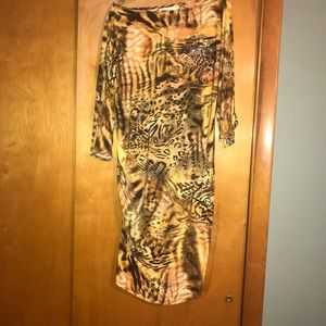 Qristyl Frazier Designs Dresses - Gold & Black Ruched leopard print dress